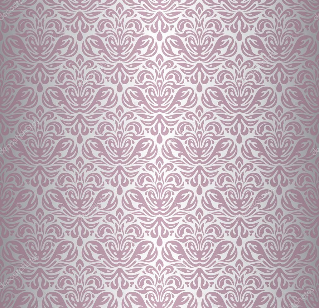 Innovativ & silber Renaissance Muster Tapete — Stockvektor #55891379 MI71