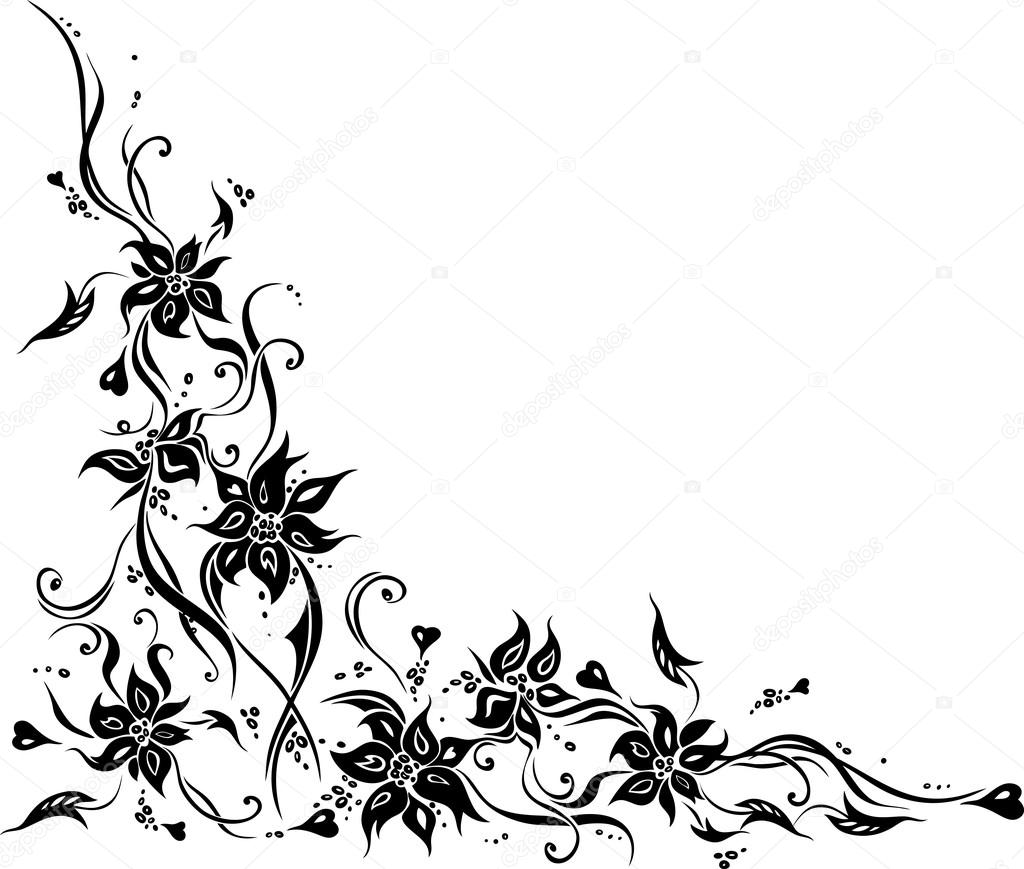 White wedding invitation with black floral ornaments vetores de white wedding invitation background with black floral ornaments vetor de erinvilar stopboris Image collections