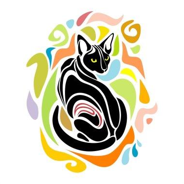 Black Cat Vector Decorative graphic design
