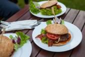 Fotografie chutný vzhled hamburgery