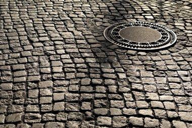 manhole cover on an street