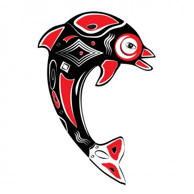 Native American Inspired Dolphin Symbol Art