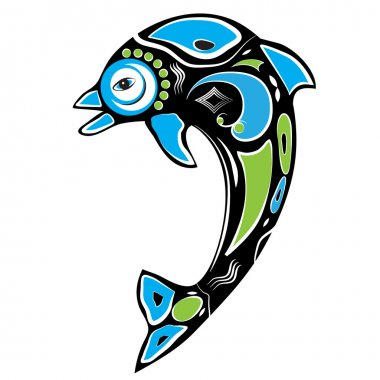 Native American Inspired Dolphin Symbol