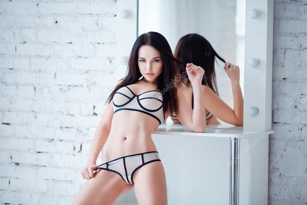 Beautiful women in bikini panties squirted imagining