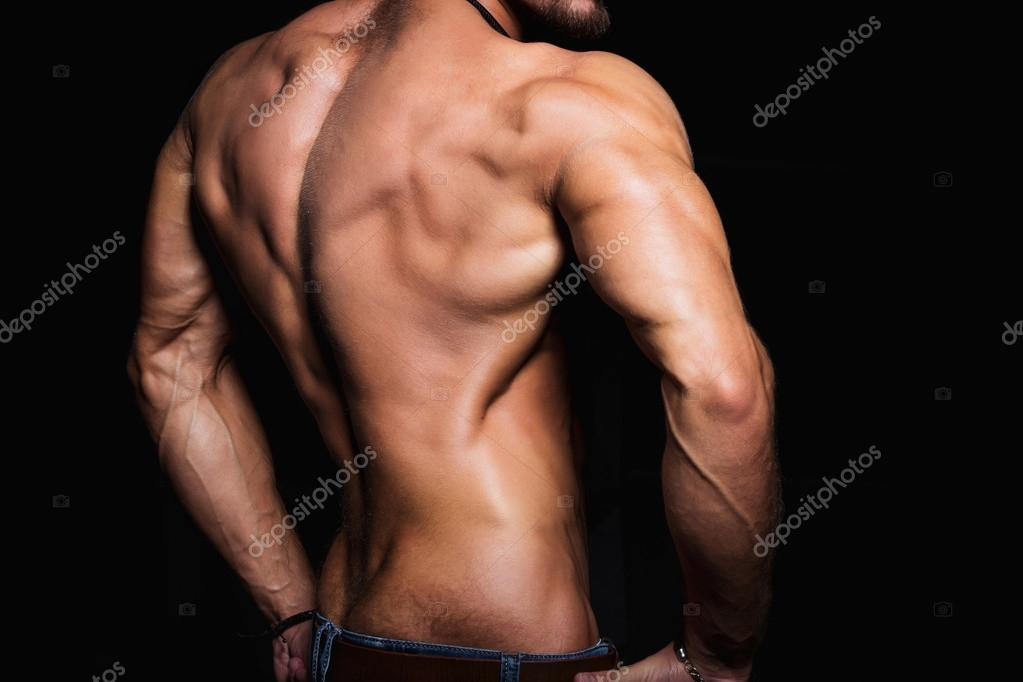 Muscular Back And Sexy Torso Of Young Man Perfect Back Muscles And