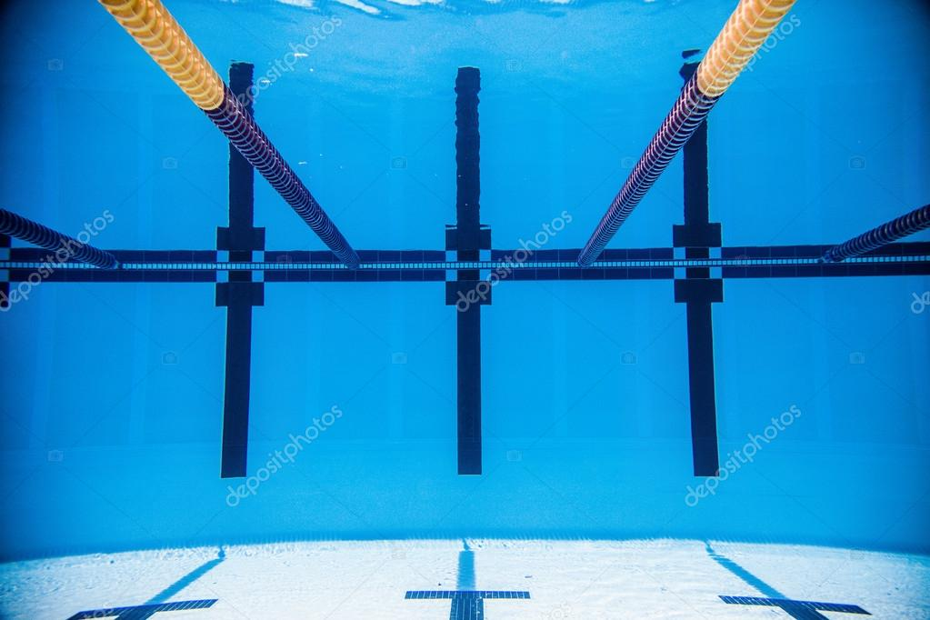 Empty 50m Olympic Outdoor Pool From Underwater U2014 Stock Photo #53492757