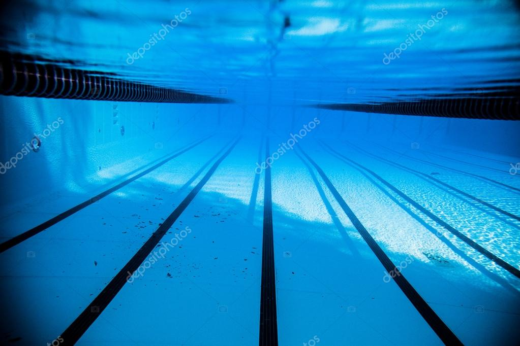 empty 50m olympic outdoor pool from underwater stock photo 53493275