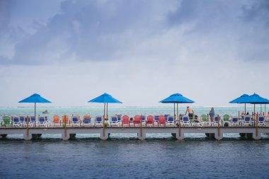 Decameron Aquarium Hotel Dock and view of the Sea