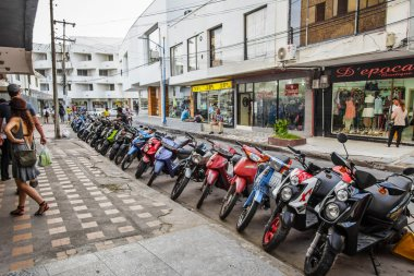 Motorcycle Parking Lot in San Andres Island, Colombia