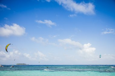 View from a Beach of San Andres Island, Colombia