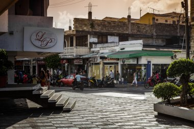 View of a Commercial Intersection in San Andres, Colombia