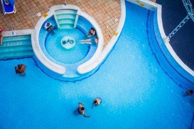 Pool of Decameraon Aquarium Hotel in San Andres Island
