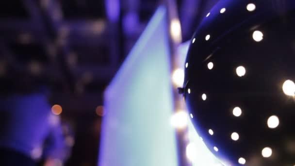 Disco koule světla efekt předení