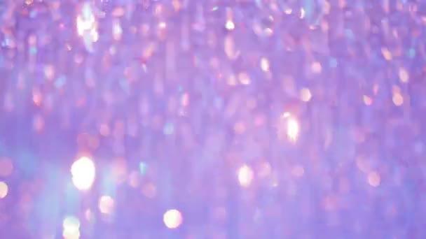 Kronleuchter Rosa ~ Schöne kronleuchter mit rosa und lila licht u2014 stockvideo © aetb