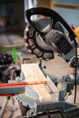 Miter Saw on a construction site