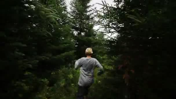 Something of Someone Running after a woman Alone in Forest