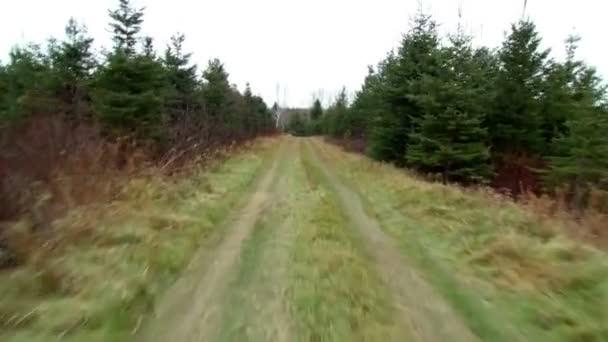 Egy földúton a jármű elülső Pov megtekintése