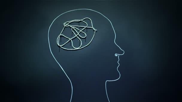 Pánikroham illusztrált szigorítás kötél az agyban