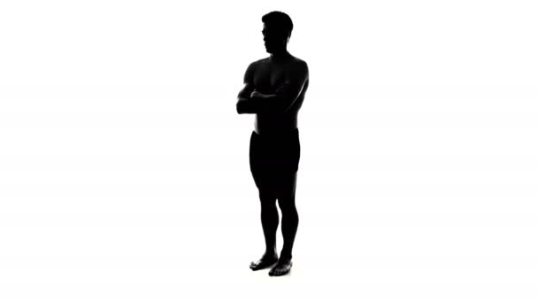Full Length Spinning Naked Man Silhouette