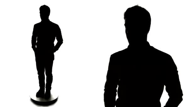Business Man in Silhouette with a Shirt