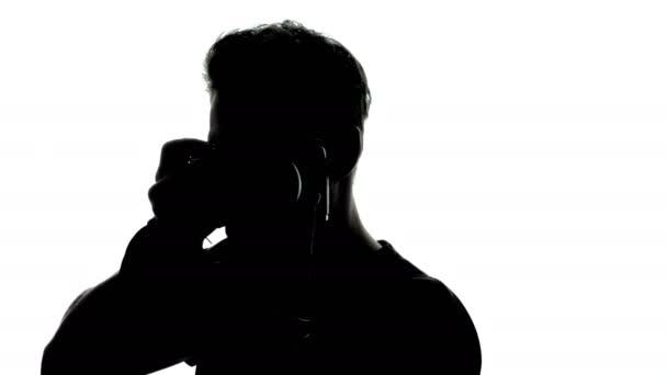 Rotierende Silhouette des Fotografen
