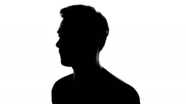rotating man silhouette