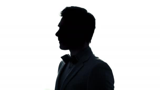 Silhouette des rotierenden Menschen