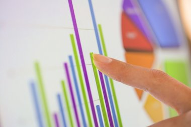 Financial data in computer screen