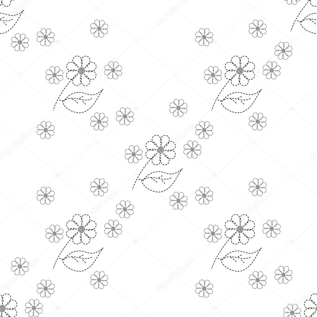 sin fisuras patrón bordado flores — Archivo Imágenes Vectoriales ...