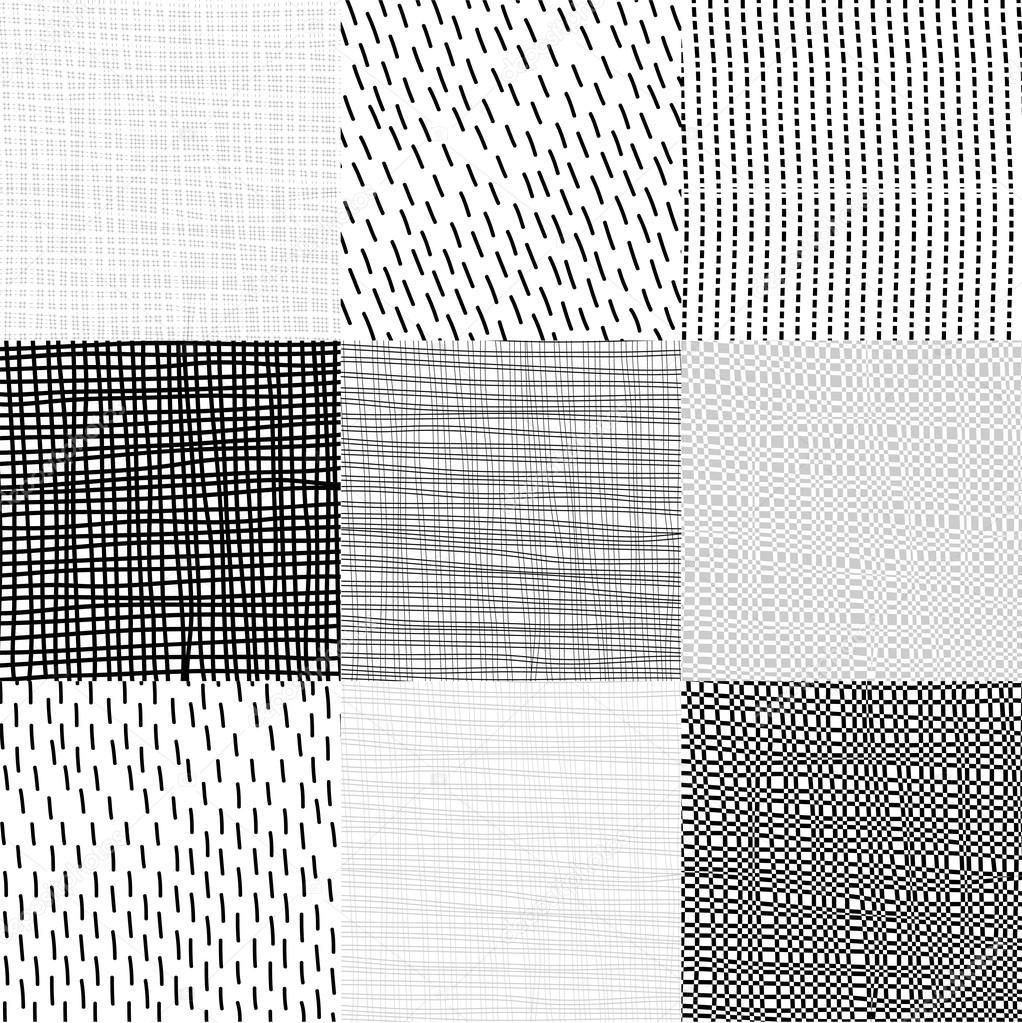 Únicos patrones geométricos de colección — Vector de stock © helen ...
