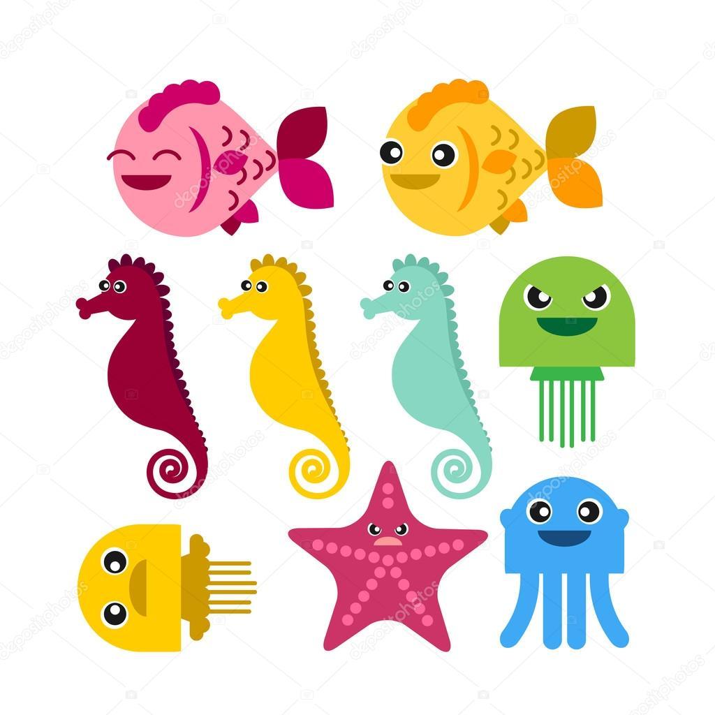 Stella marina cavalluccio marino colorato pesce meduse for Cavalluccio marino disegno