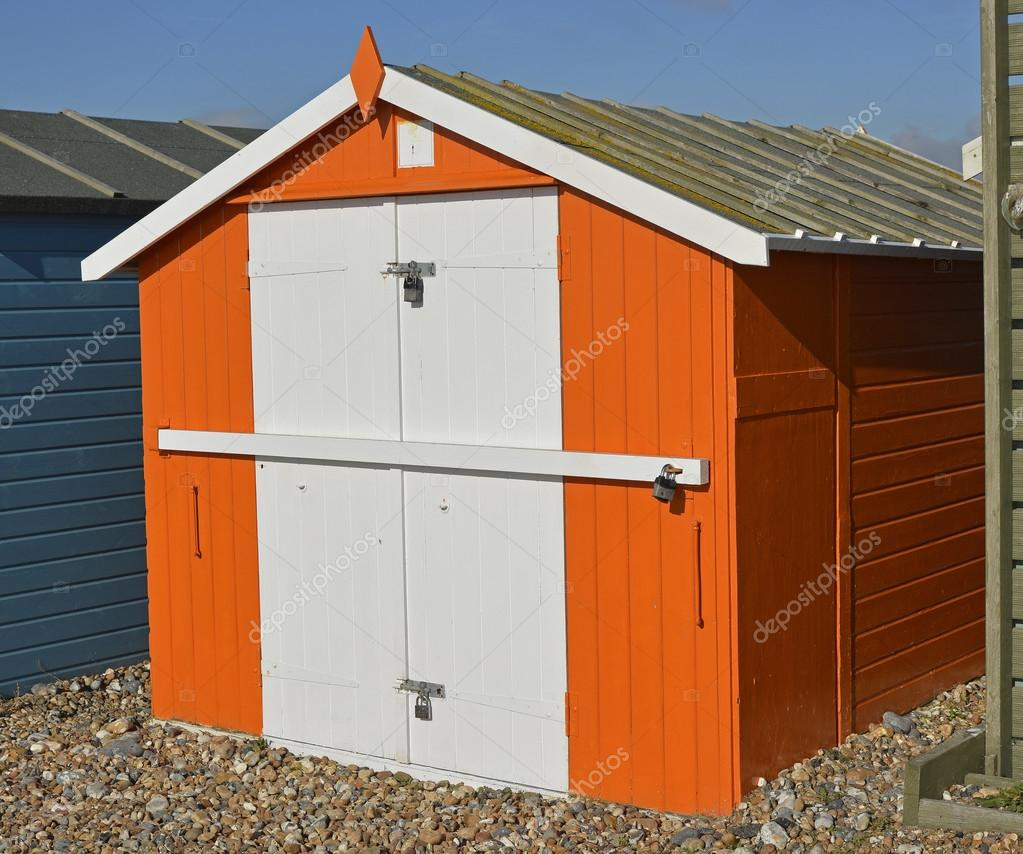 Beach Hut At Lancing West Sussex England Stock Photo C Clickos