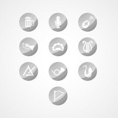 set musical instrument web icon