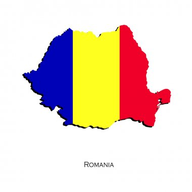 Map of Romania for your design