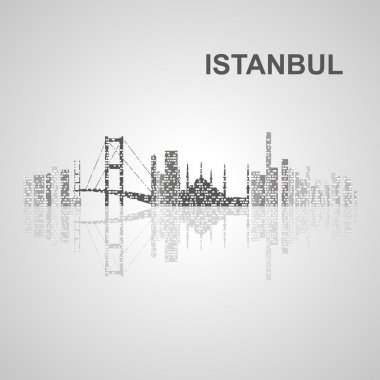 Istanbul skyline  for your design