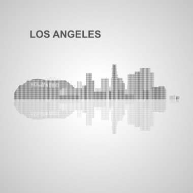 Los Angeles  skyline  for your design