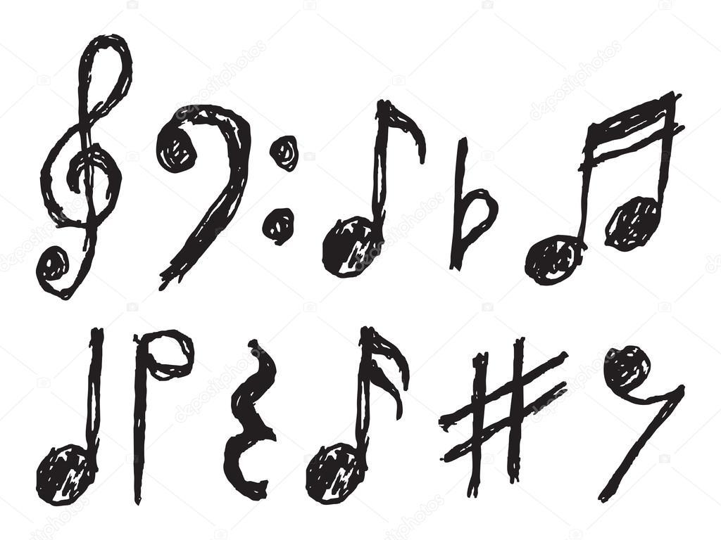 musical notes vector hand drawn stock vector branchecarica rh depositphotos com musical notes vector art musical notes vector art