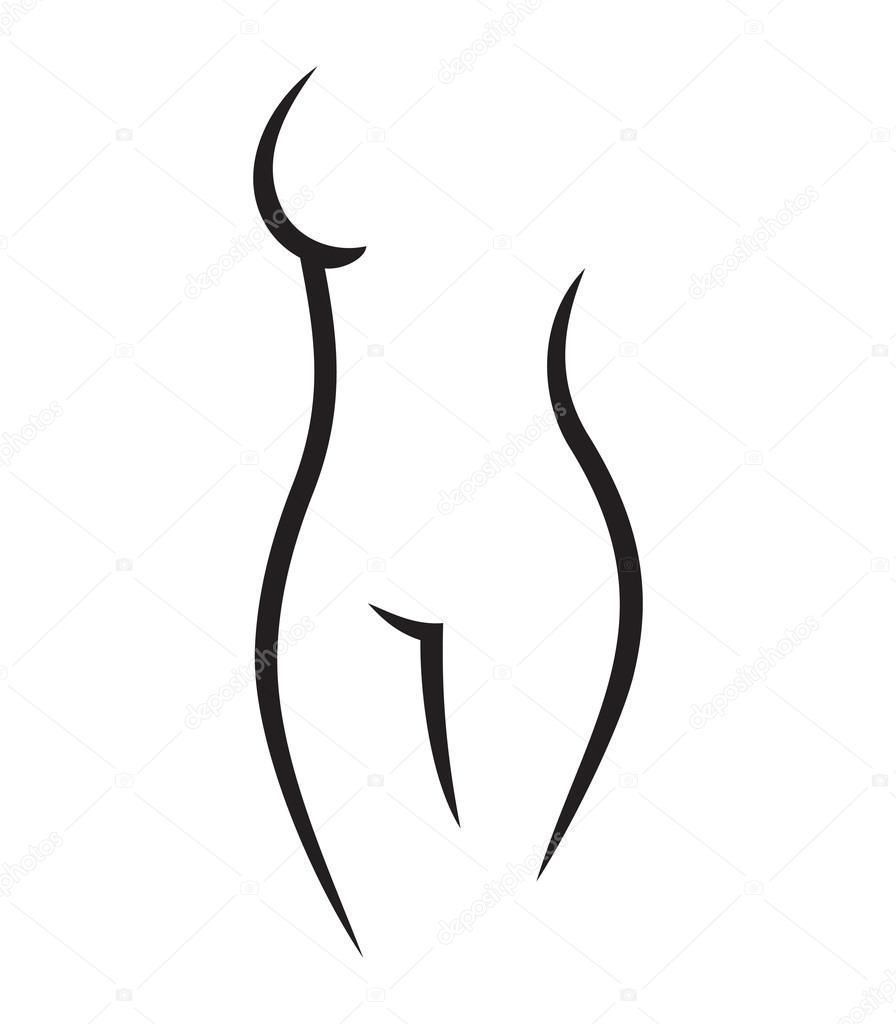 Vector Cuerpo Mujer Dibujo Dibujo Del Cuerpo Desnudo De Mujer