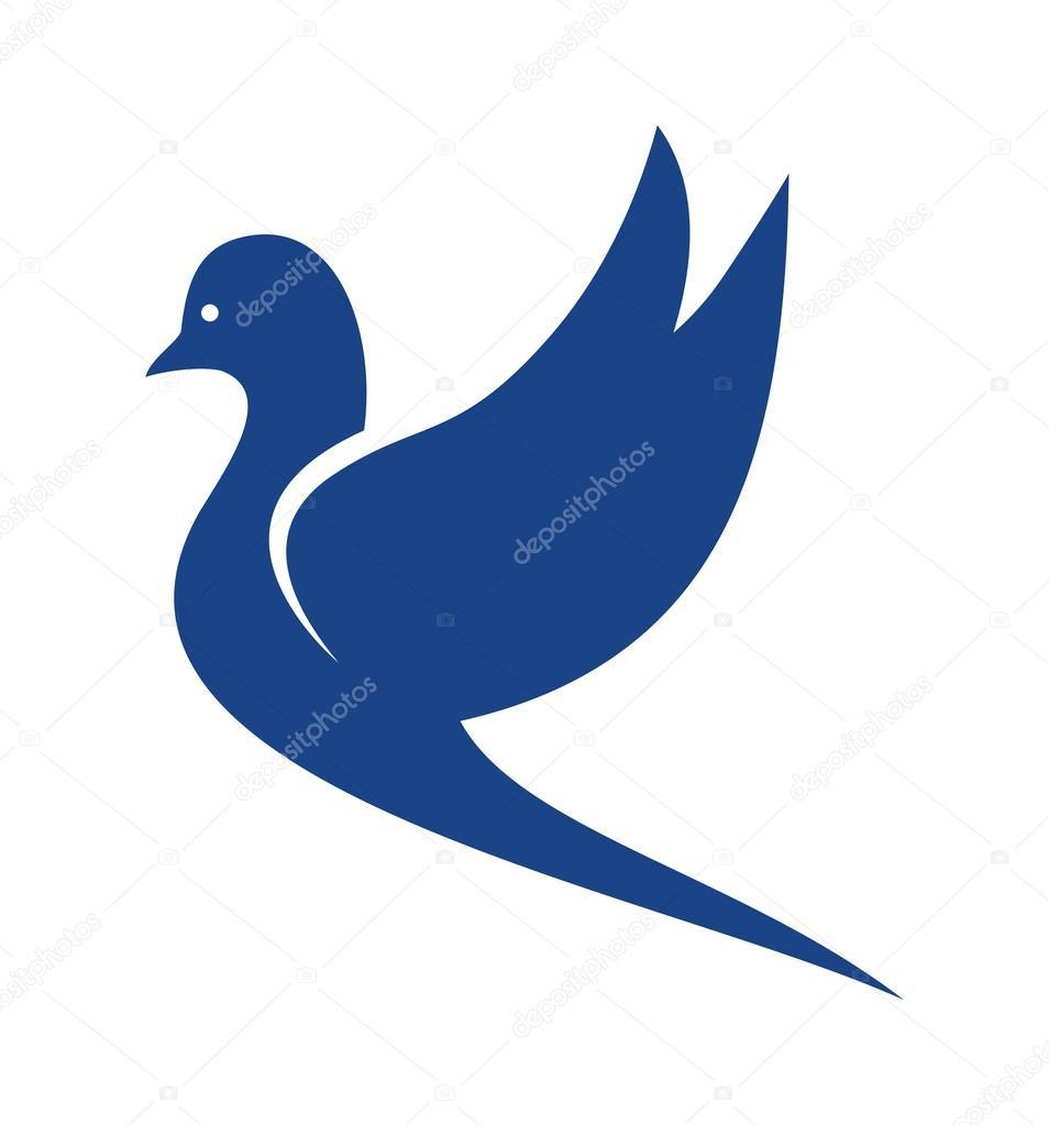 Dove Of Peace Vector Icon Stock Vector C Branchecarica 120131784