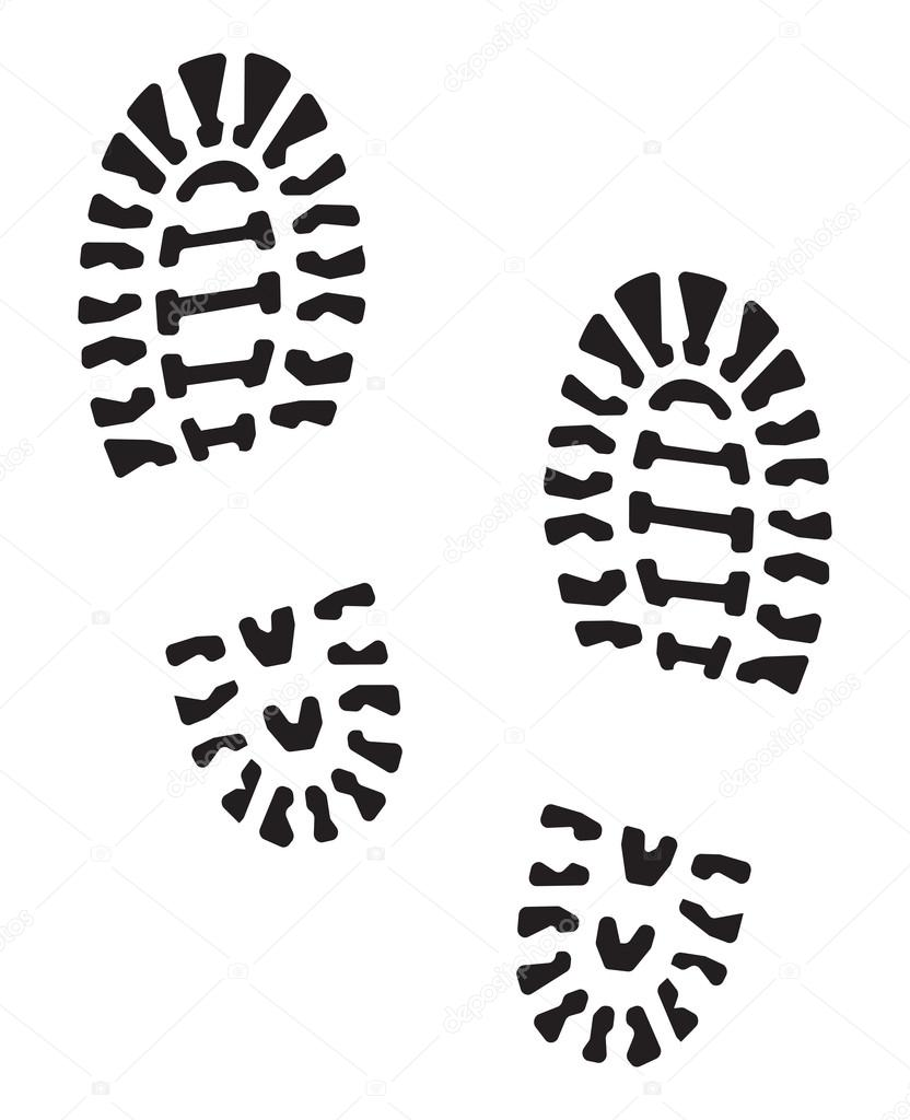 Running shoe clipart black and white