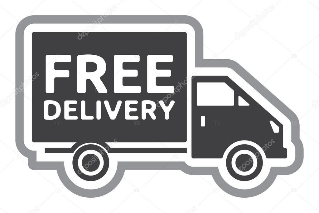 Безкоштовна доставка вантажівка - безкоштовна доставка етикетки– стокова  ілюстрація e9b99cb242813