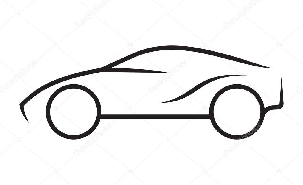 Auto-Strichzeichnungen — Stockvektor © branchecarica #60846703