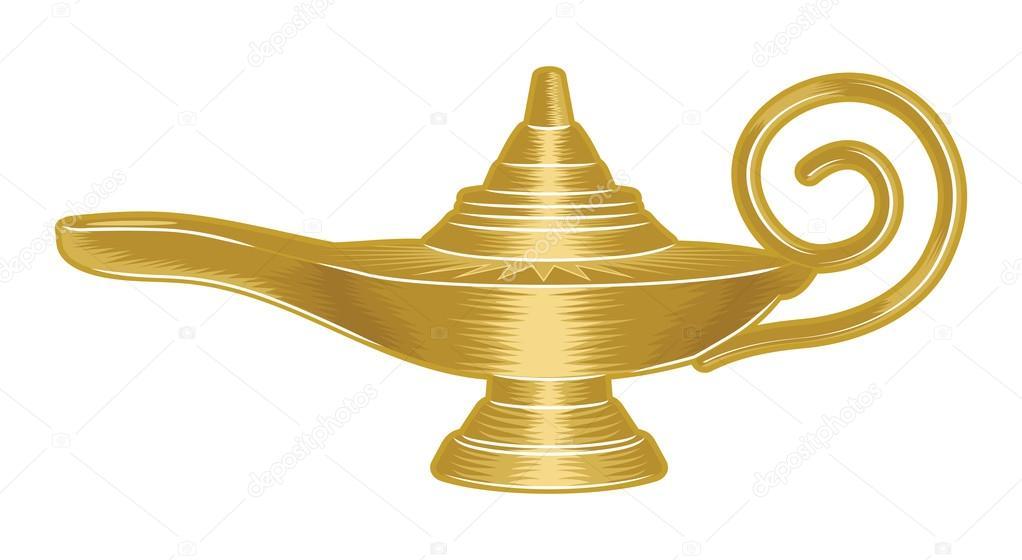 Aladdin Magic Lamp U2014 Stock Vector