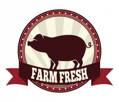 Farm fresh pork vector illustration