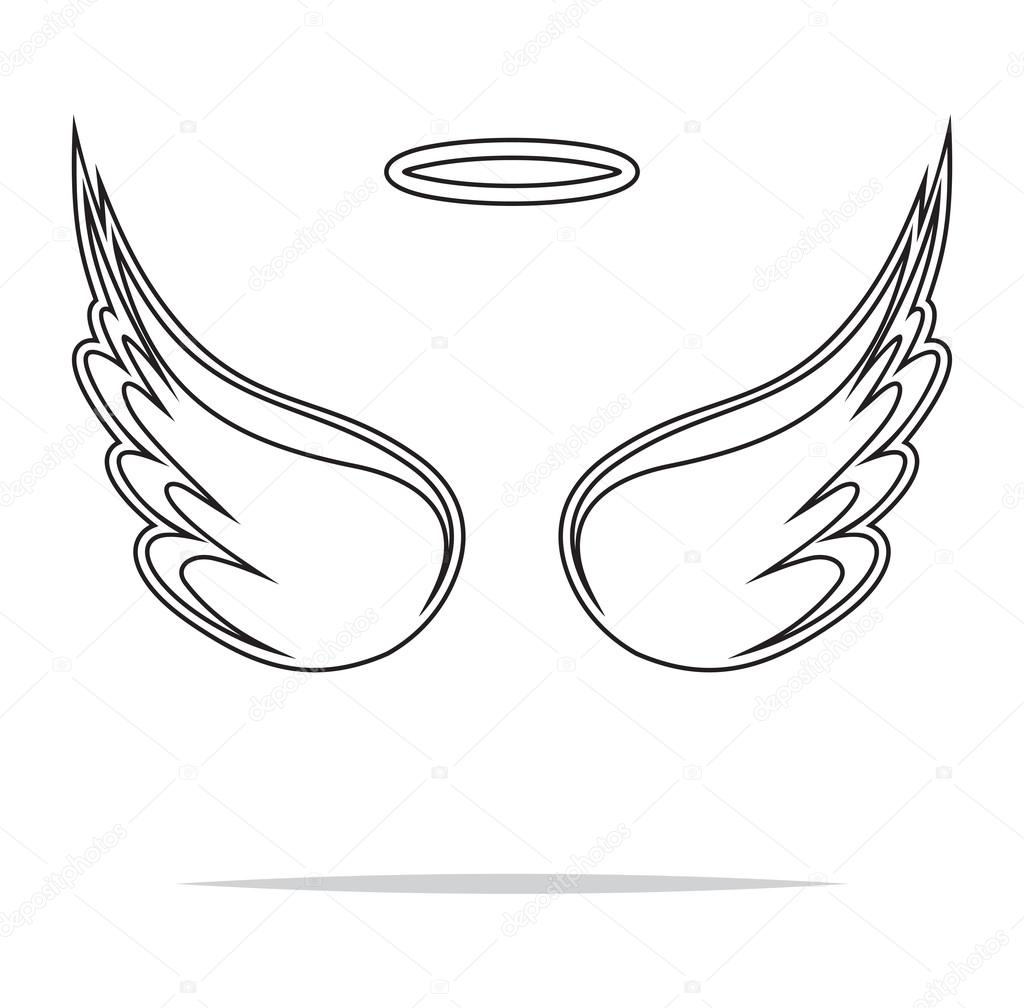 Angel Wings Vector Illustration Stock Vector Branchecarica 75272281