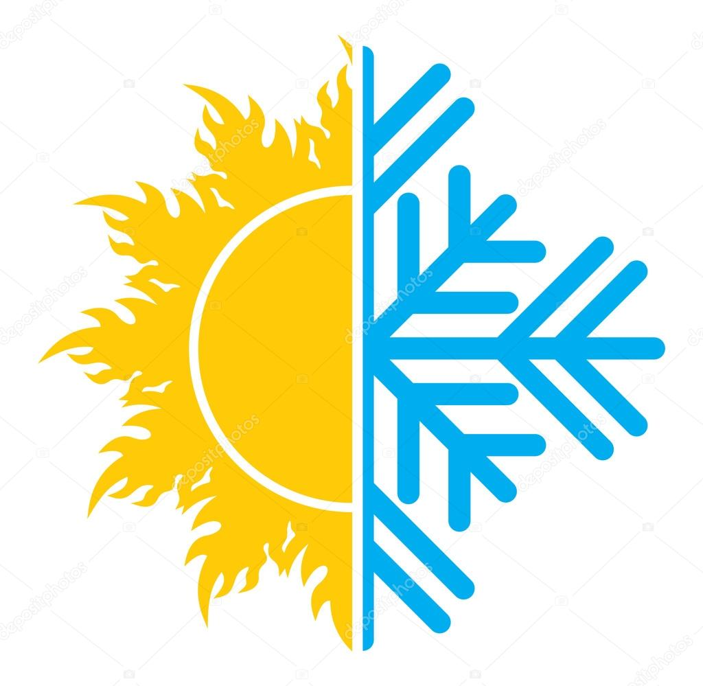 air conditioning icon vector. air conditioning vector icon - summer winter \u2014 stock #75272403