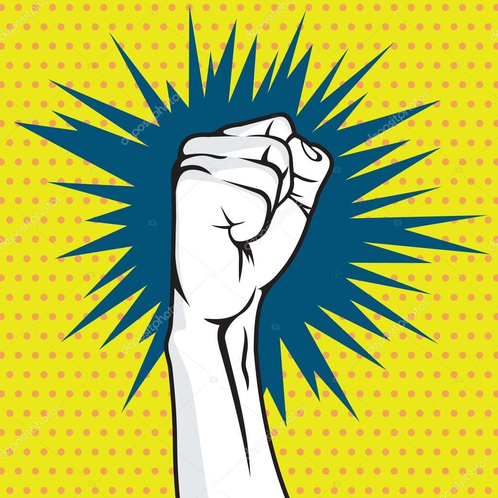 革命の拳ポップ アート ベクトル イラスト