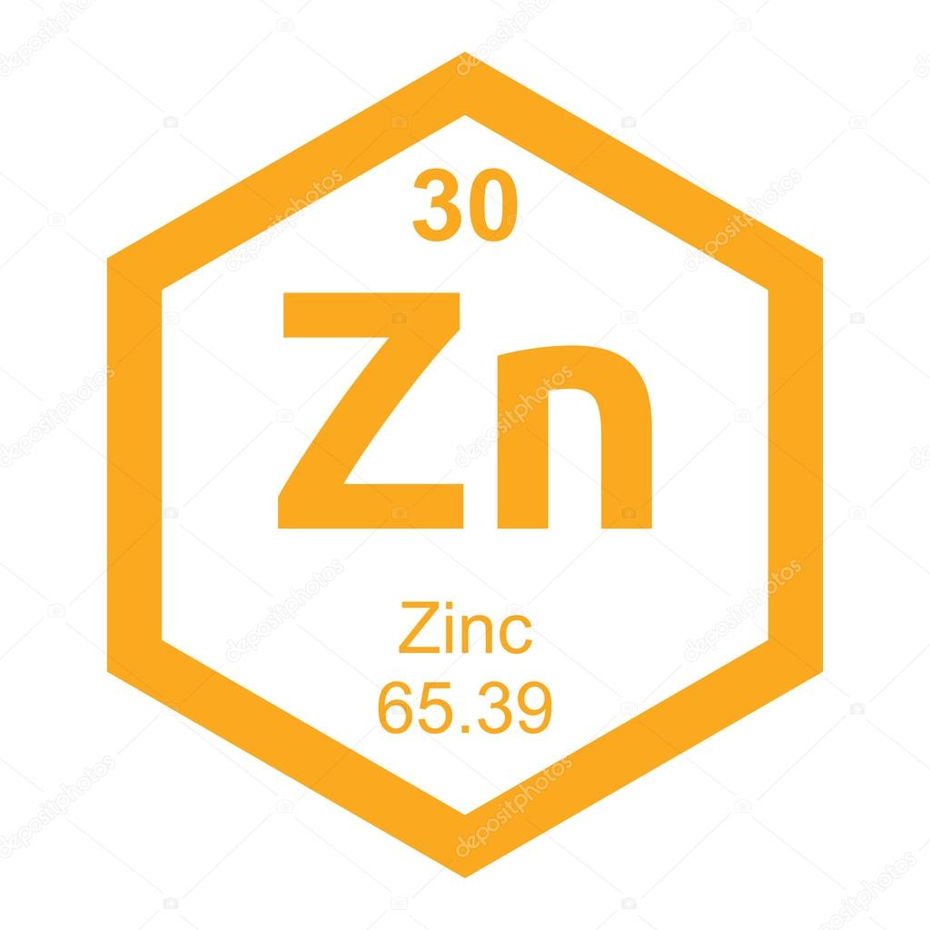 tabla peridica zinc vector de stock - Tabla Periodica Zinc