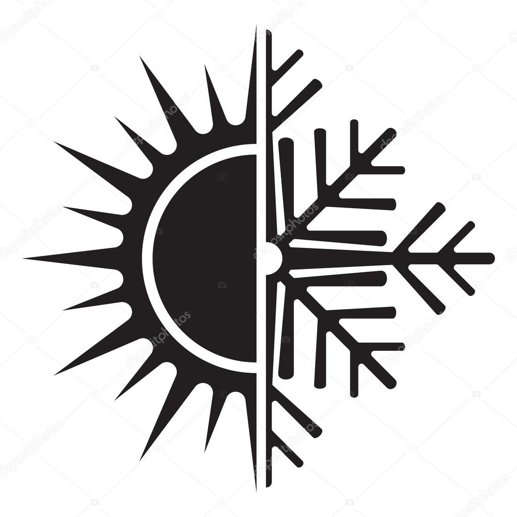 Air conditioning vector icon - summer winter — Stock Vector ...