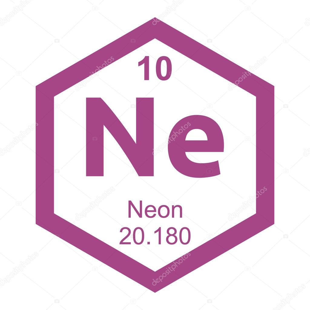 periodic table neon element � stock vector 169 branchecarica